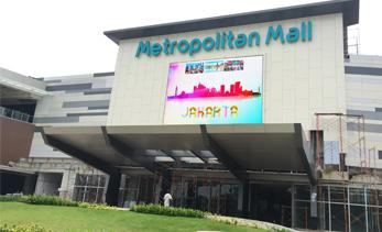 Our LED display on the building of Metroplitan Shopping Mall