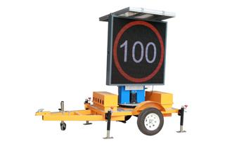 A New Type Of RGB Trailer-Mounted Variable Speed Limited Sign