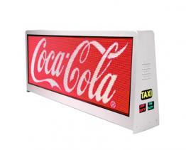 Taxi top LED display advertisement effect