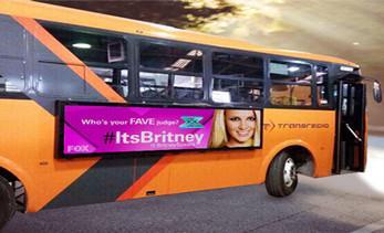 Bus LED display create a new city scene