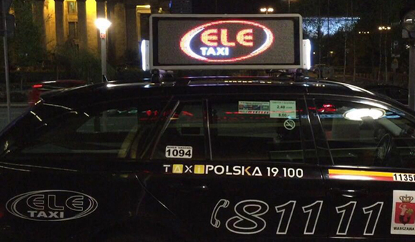 China Taxi Led Display Taxi Roof Led Display Taxi Top