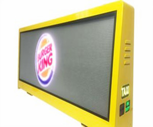 Taxi top LED display
