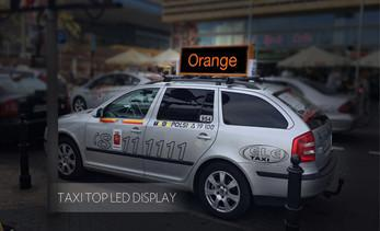 Media superiority of taxi topper display