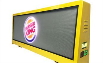 Advertising potential of taxi top LED display