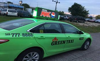 New electronic media advertising: taxi top LED display