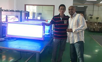 Welcome African customers to visited our factory again