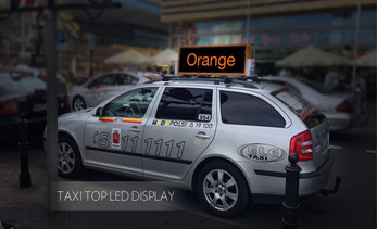 taxi topper display