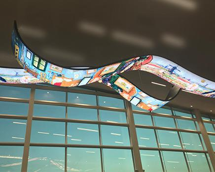 What are the problems with flexible LED display installation?
