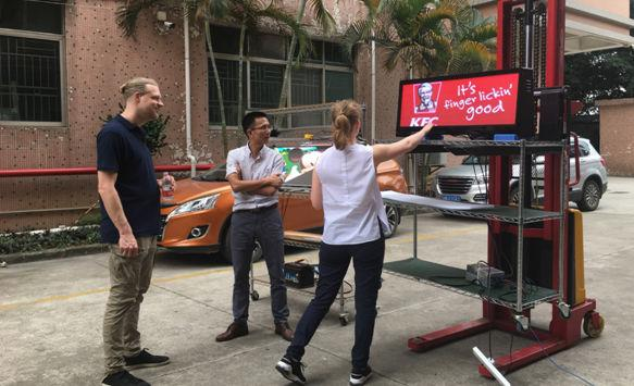 Clients from Western Europe Tested Our HD P2.5 Taxi LED Screen