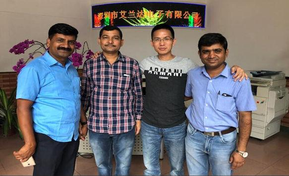 Indian Customers Visit Us for Our Digital LED Poster