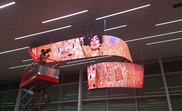 NSE LED Flexible LED Screen Shines in Incheon International Airport
