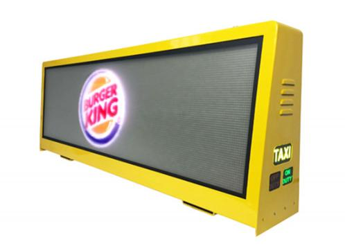 How it would be if there's Taxi Top Sign showing the attractive video advertising information?