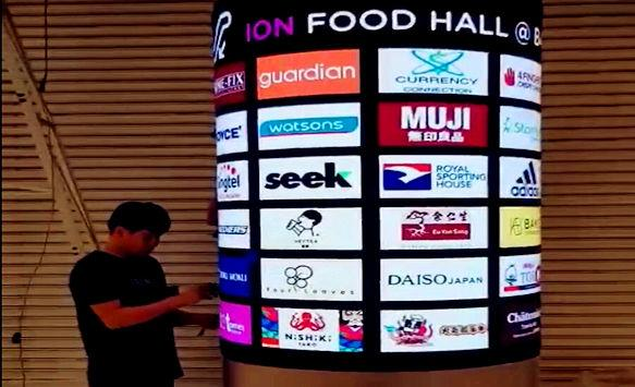 P2.5 Flexible LED Display for Creative Advertising in Singapore
