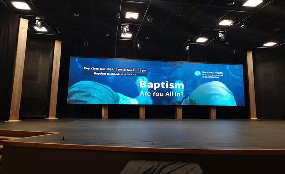 HD P3 LED Display for Canadian Church