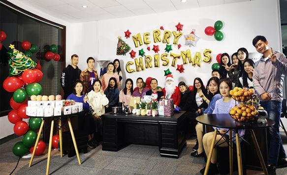 NSE LED Screen Family Celebrating Merry Christmas
