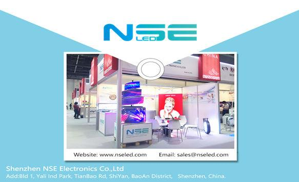 Nice to meet you in Dubai SGI exhibition-NSE LED team