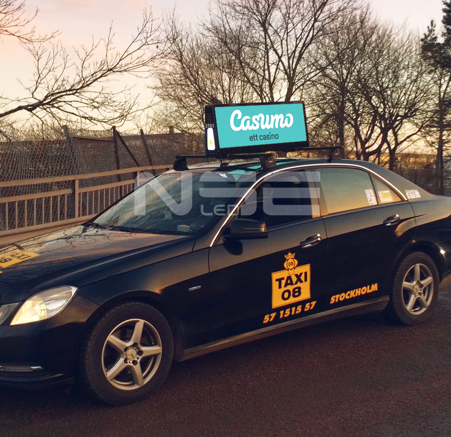 wireless Taxi Top Light Display In Sweden