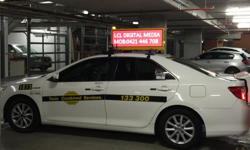 Taxi Top LED Billboard In Australia
