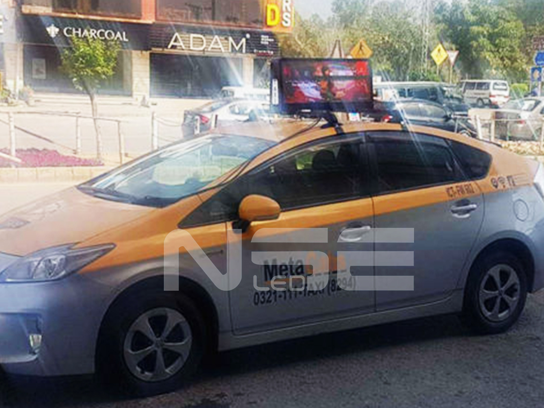 P3 Taxi Advertising LED Display In Pakistan