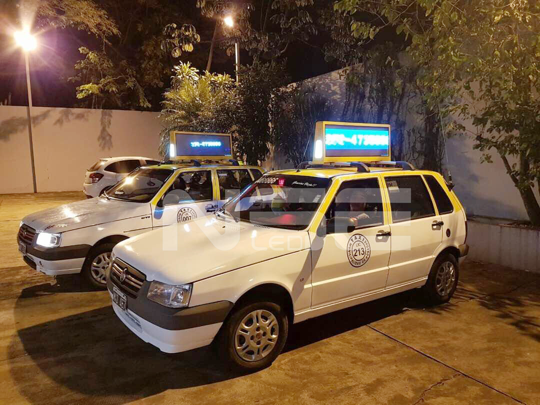 Taxi Top Media Display In Argentina