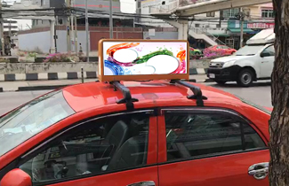HD Outdoor WIFI&USB Taxi Top Advertising LED Display
