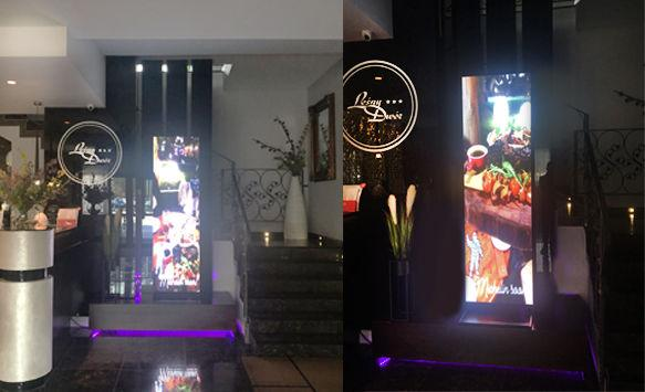 LED Poster Display for Hotel Retail Advertising in Poland