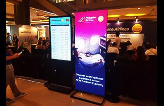 Digital LED poster for trade fair application