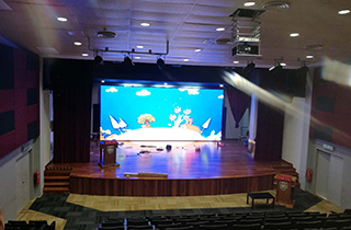 Malaysia ultra thin HD P2.5 LED screen for school