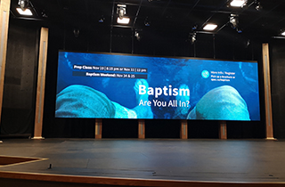Canada indoor rental LEDdisplay for church