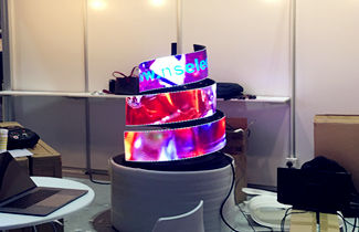 Dubai P4 flexible screen for exhibition