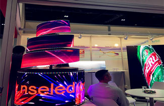 Amazing flexible LED display for advertising