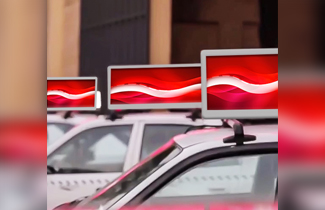 Egypt taxi LED display