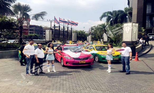 NSE taxi LED display perfect show in Asian