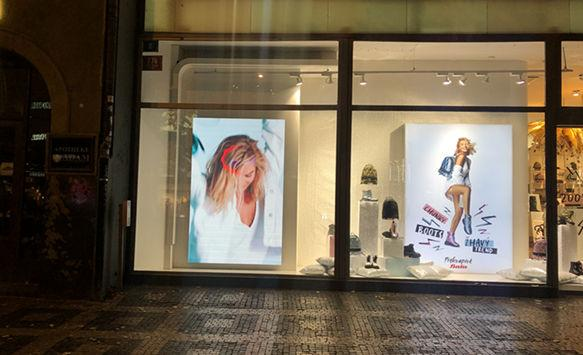 Are you interested in glass window LED display ?