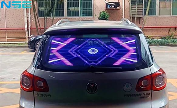 Transparent Rear Car Window LED Display