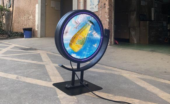 Circle Led Logo Sign Display for Retails Application