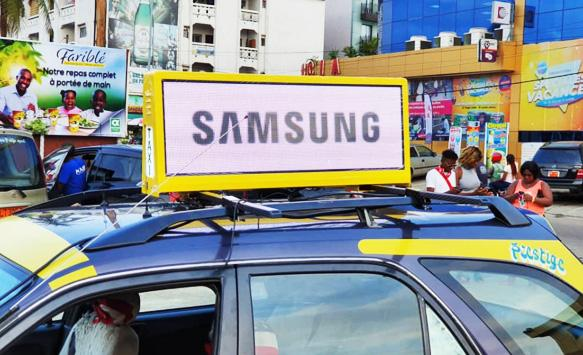 P5 Taxi Rooftop Advertising Debuts in Cameroon