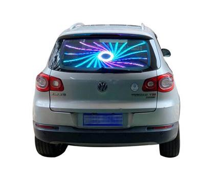 Transparent Car Rear Window LED Display