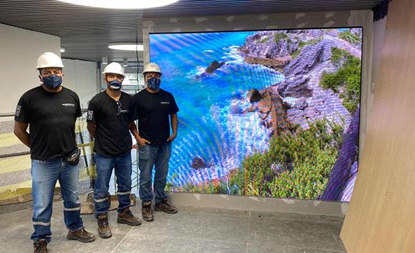 P2.5 HD LED Wall project finish in Ecuador
